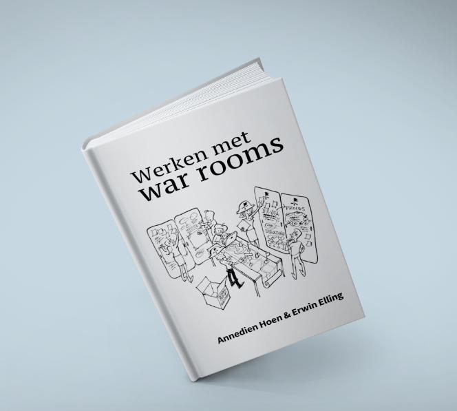 """In het handboek """"Werken met war rooms"""" vind je de methodiek, achtergronden, checklists en praktische tips & tricks, zodat je zelf war rooms kunt toepassen bij creatieve en innovatieve projecten in jouw organisatie."""