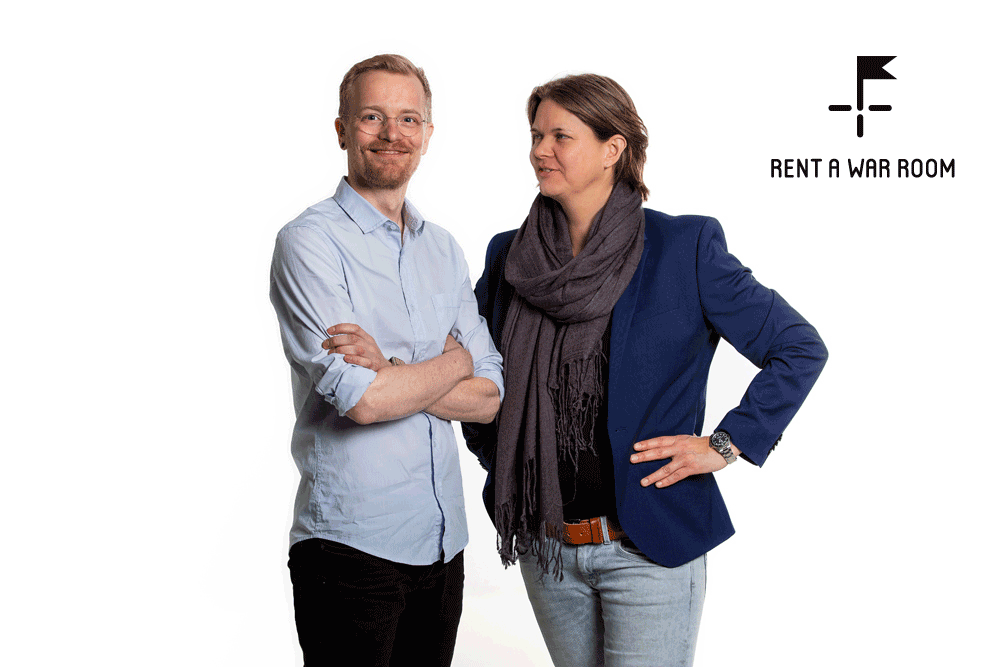 Erwin Elling en Annedien Hoen, co-founders van Rent a War Room®