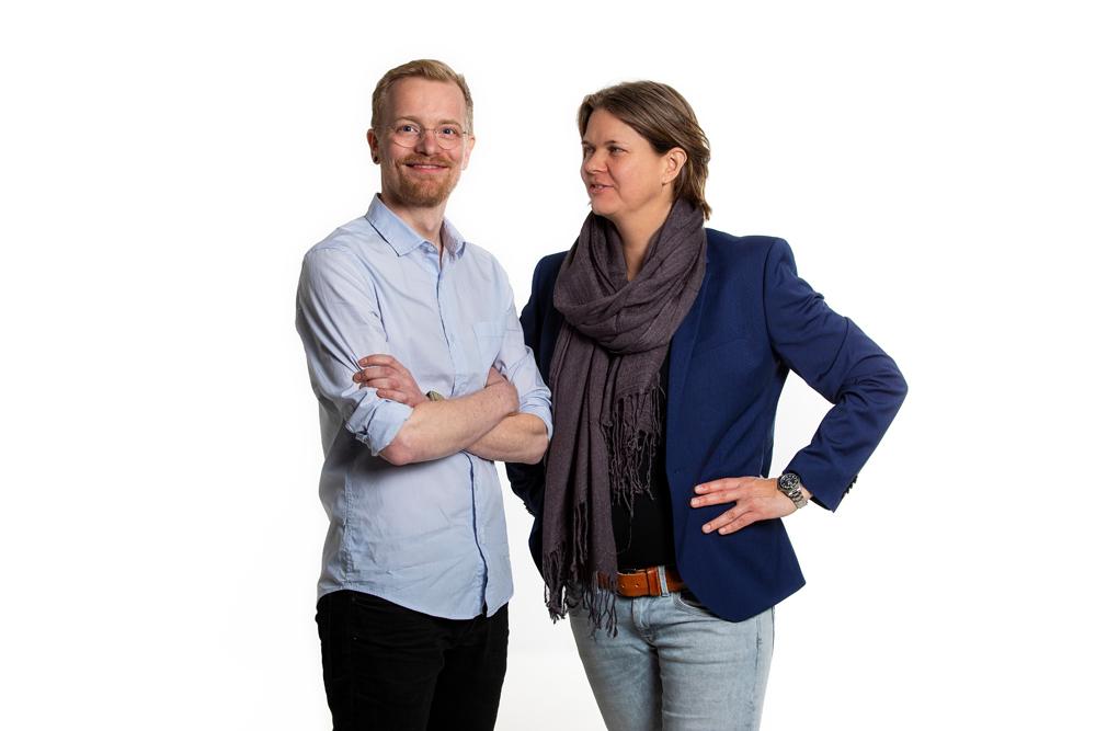 Erwin Elling  (technisch directeur) en  Annedien Hoen  (strategisch directeur), co-founders van Rent a War Room®