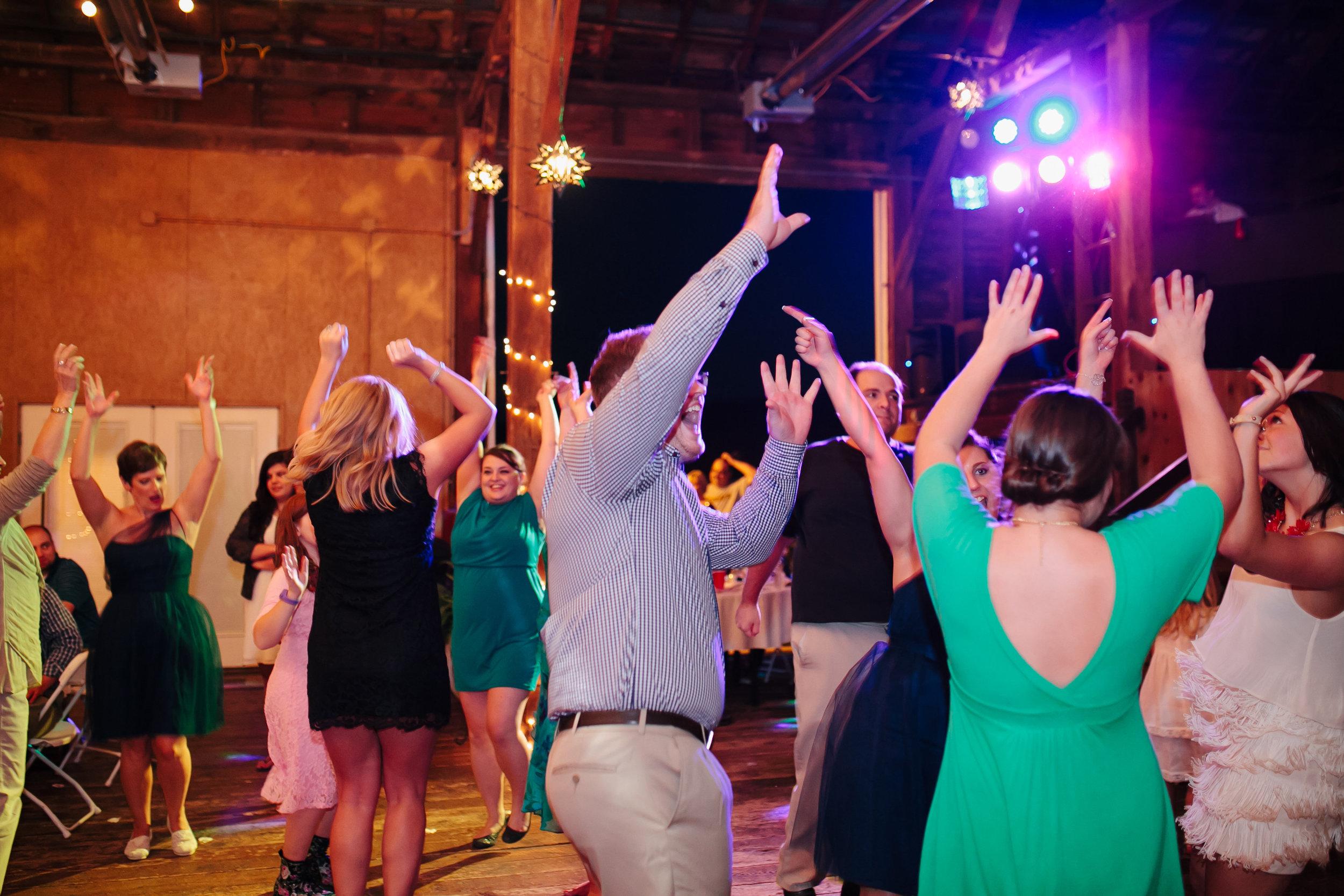 Dancing at Charlottesville Wedding