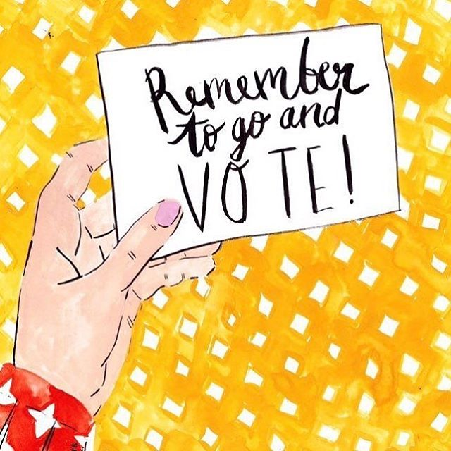 Hoosier friends and family! TOMORROW Oct 9th is the deadline to register to vote in Indiana. PLEASE make sure you register so you can make your voice heard on Election Day this November. Lily and I are already registered and are mailing in our absentee ballots because we care about our home state and our country. Registration link is in our bio!! (Come on y'all, we're making this easy for you so you have no excuse not to) 👍🏼😊 beautiful original art by @_ellamasters_