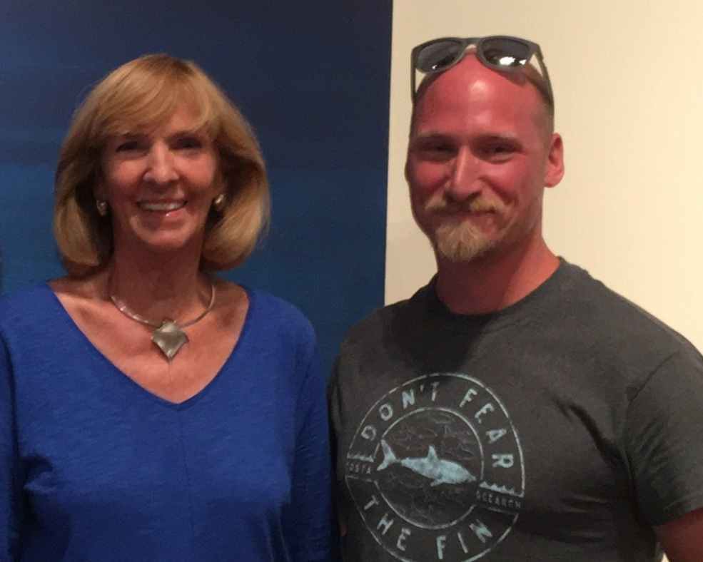 Keith Cowley with Wendy Benchley