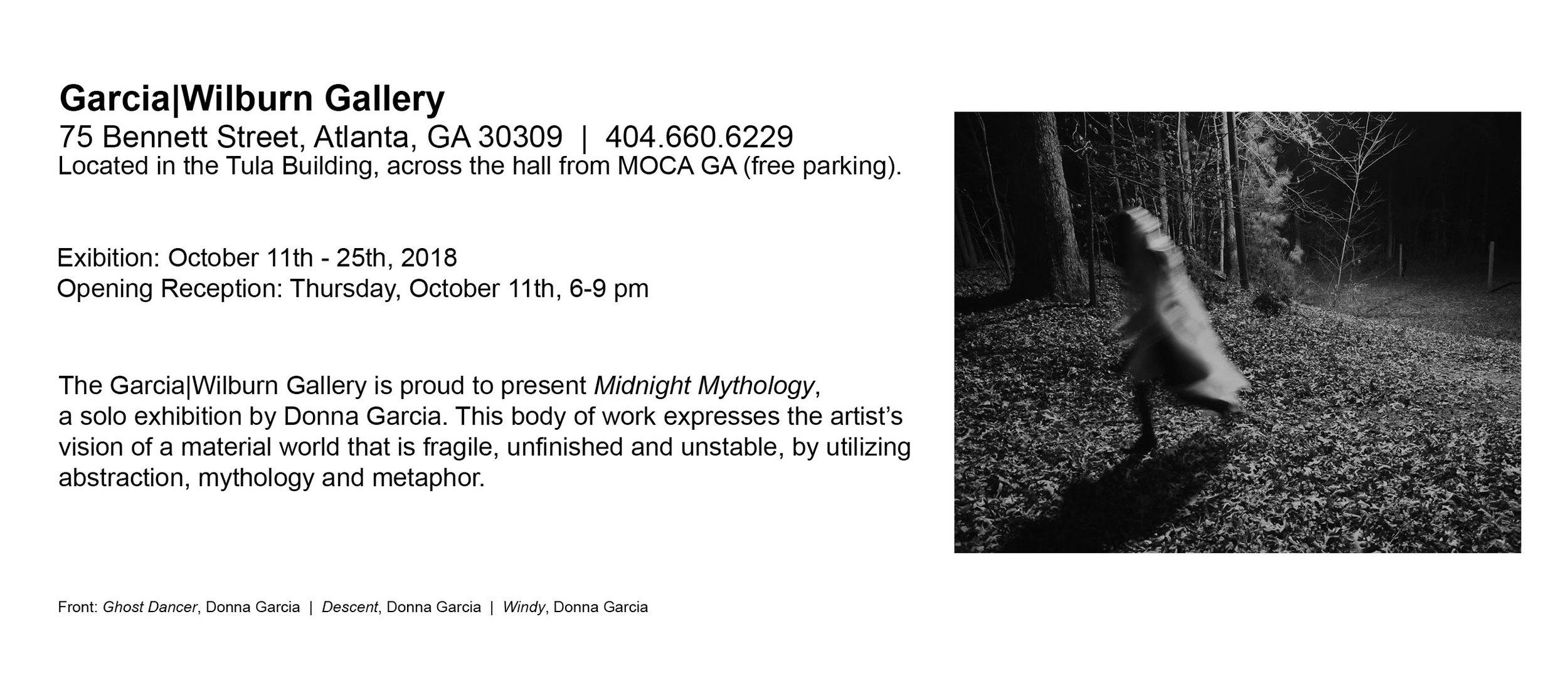 Midnight Mythology, 2018. Donna Garcia, solo show, ACP.