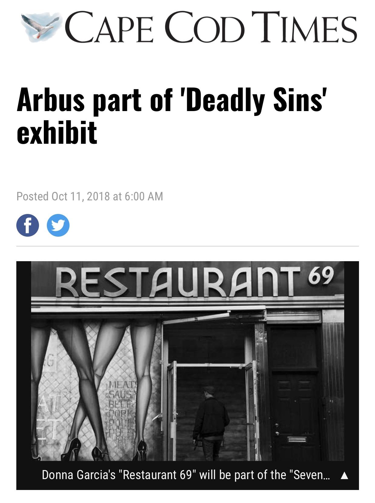 "Restaurant 69 by Donna Garcia, award winner for ""7 Deadly Sins"", 2018."