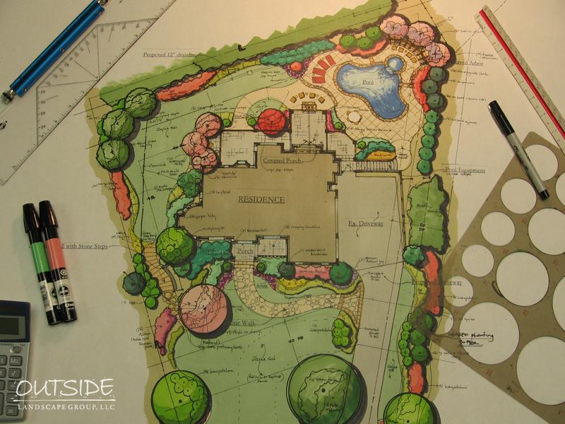 Landscape Design Architecture In Alpharetta Ga Outside
