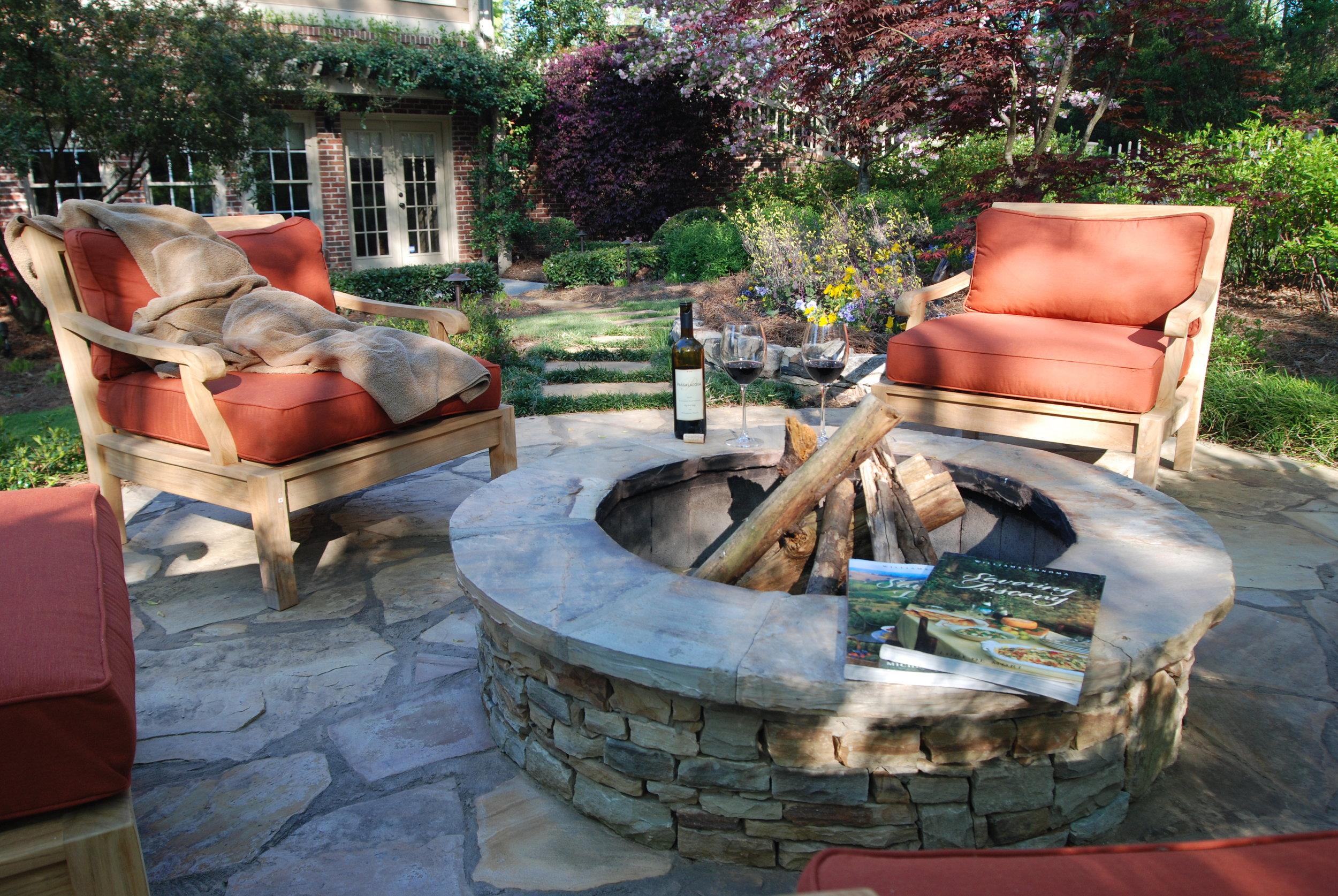 Image of: Outdoor Fireplace Fire Pit Contruction Atlanta Ga Outside Landscape Group Llc Outside Landscape Group