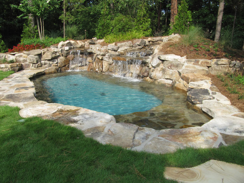 Backyard Pool Waterfall Water Feature.jpg