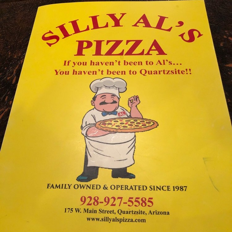 Delicious pizza in Quartzsite