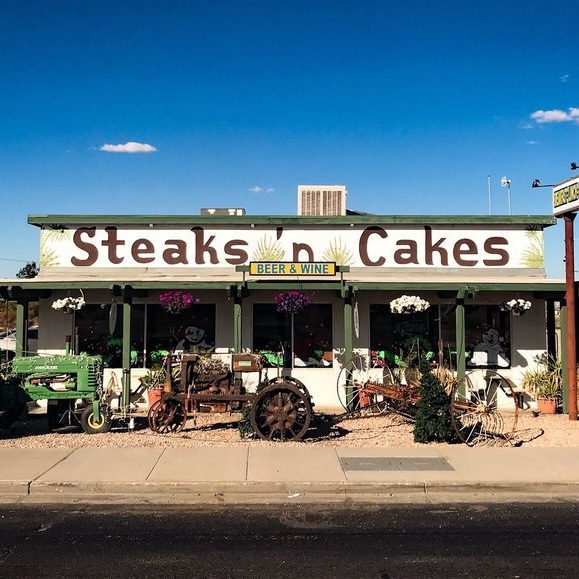 Try Steak 'n Cakes for a unique experience