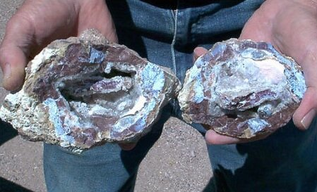 Potato Patch Geode. Photo from  Desert USA .