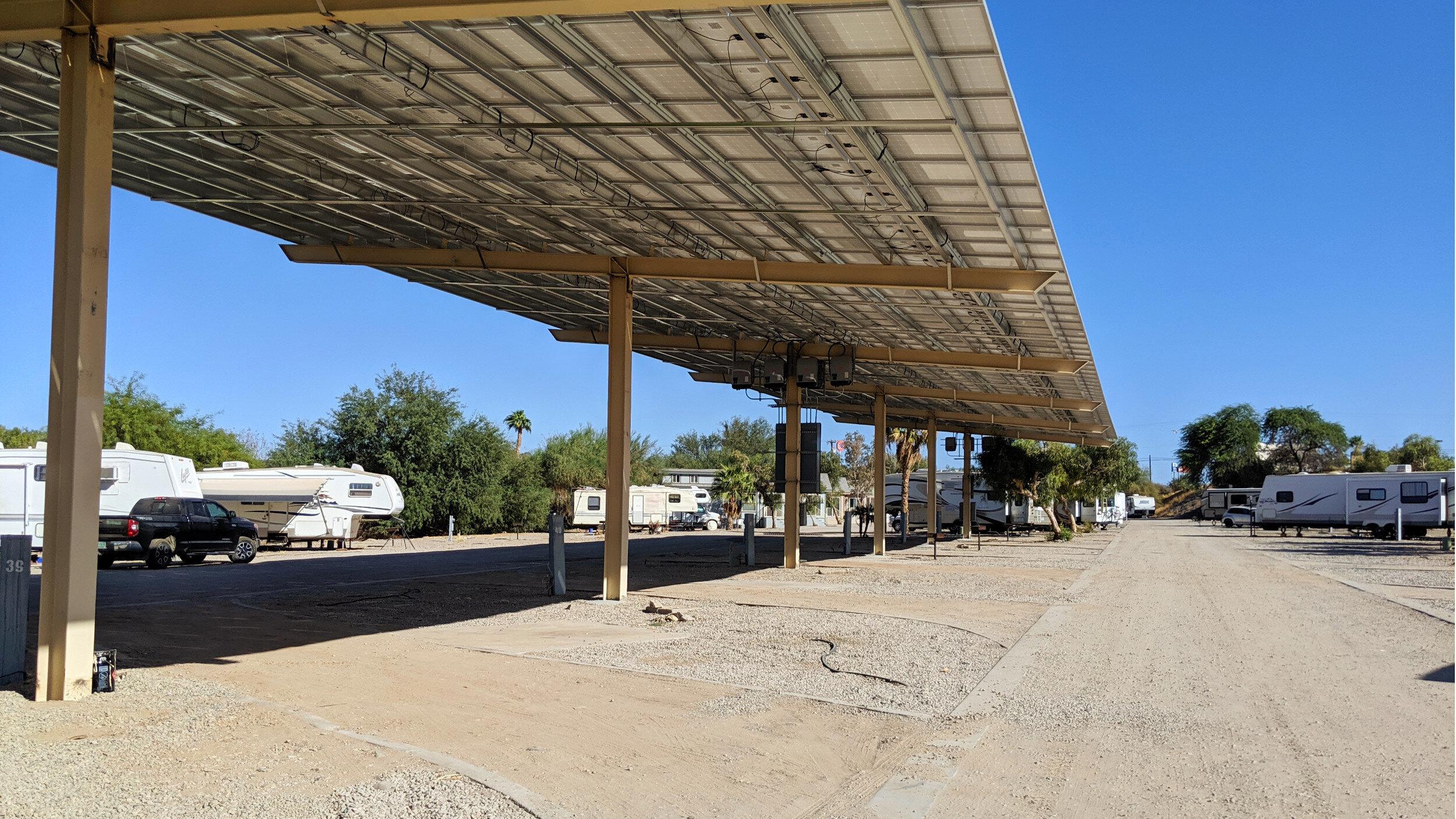 Solar Covered RV Site