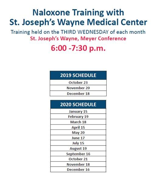 Substance abuse training at St. Joseph Health Schedule.