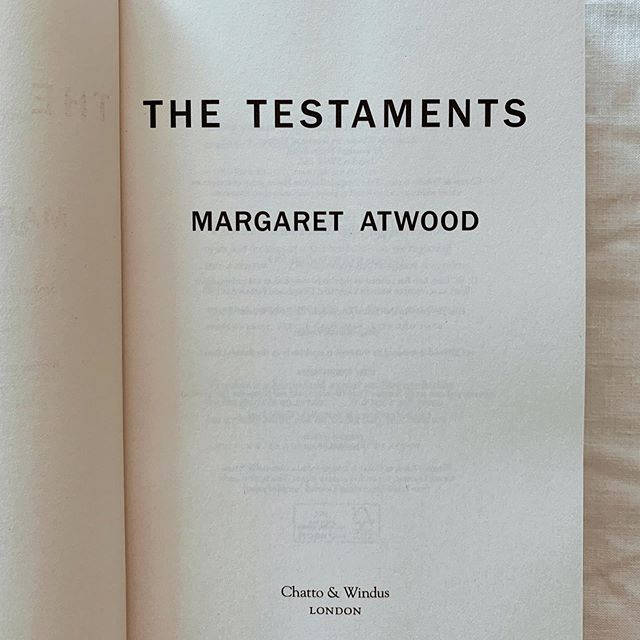 📚FINISHED📚 Anyone read/reading/TBR'd The Testaments by Margaret Atwood? ⁣ ⁣ It wasn't what I expected but I'm in awe of Margaret Atwood's ability to convey complex female characters. ⁣ ⁣ As slow as it's been, I *am* preparing a book blog. Progress over perfection, right? ⁣ ⁣ In the meantime, reviews have been mixed on this one...⁣ ⁣ Adrienne xx⁣