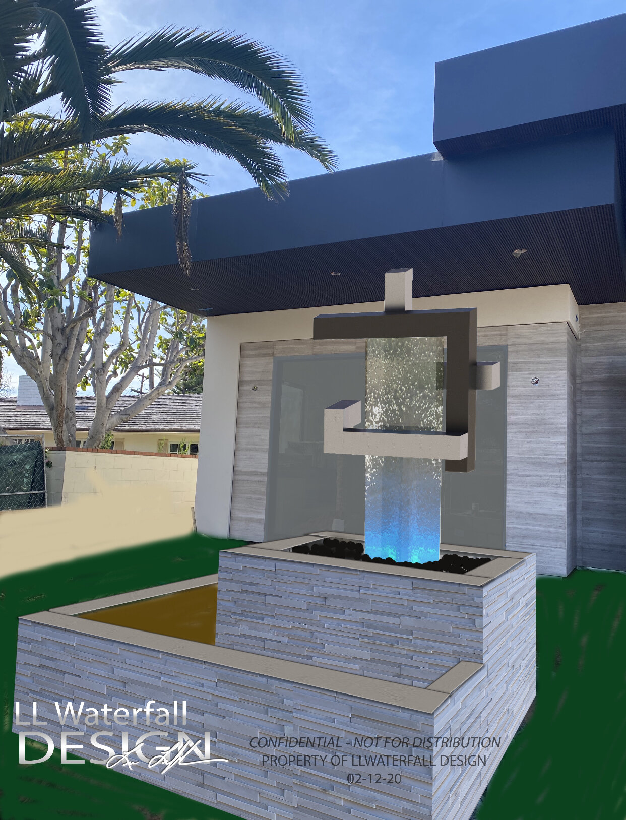 Conceptual Projects Ll Waterfall Design Custom Interior