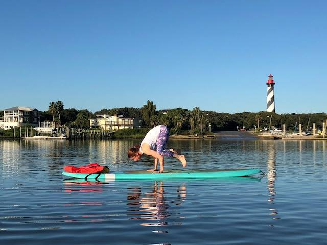 Relax with Koastal Paddleboard Yoga - Start your morning right at this local floating yoga studio. Koastal Paddleboard Yoga offers instruction for all levels, teaches individuals, groups and offers classes for special occasions. As you relax into your board on Salt Run, you will immerse yourself in history to one side (the Lighthouse) and natural beauty (Anastasia Island) on the other.
