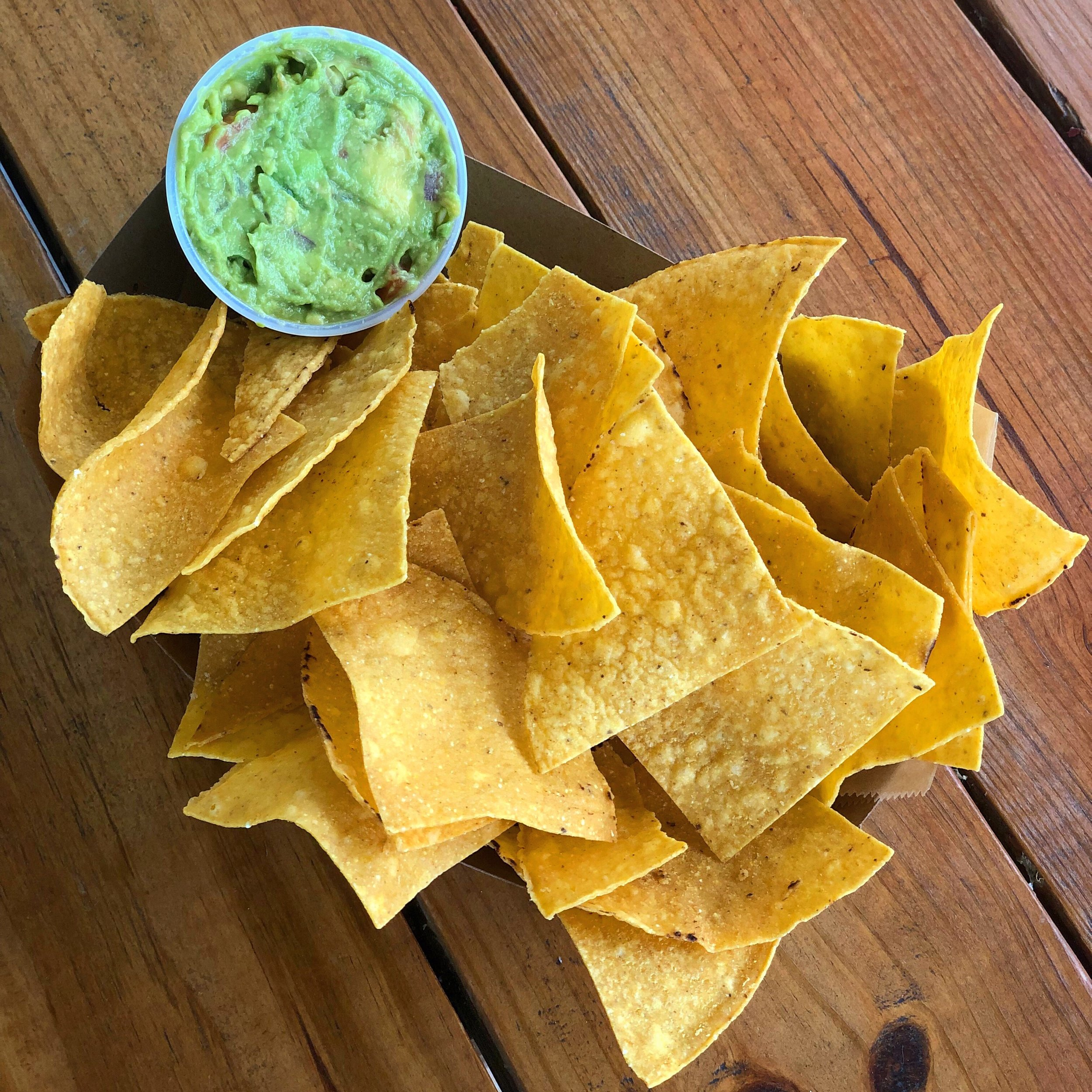 Locally Sourced Guac and Chips