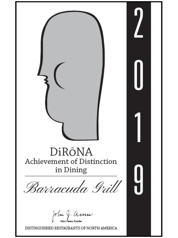 Barracuda Grill in Hamilton Bermuda 2019 DiRoNA Awarded Restaurant.png