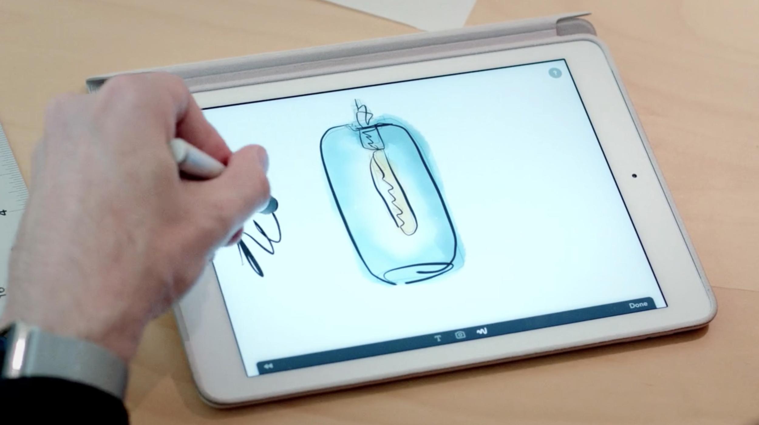 Niche Modern CEO Jeremy Pyles sketches a pendant light.