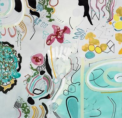 Memento Mori 52, 2017-18, acrylic on canvas, 132 x 137 cm