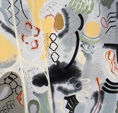 Memento Mori 53, 2017-18, acrylic on canvas, 132 x 137 cm