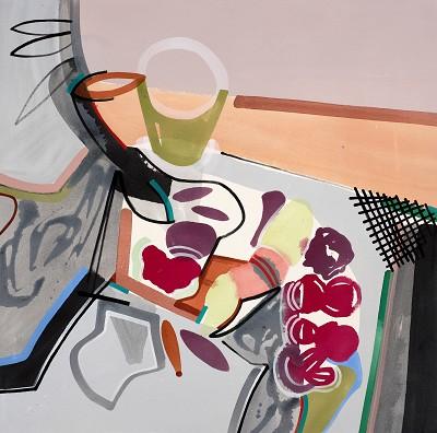 Memento Mori 22, 2017, acrylic on canvas, 90 x 90 cm