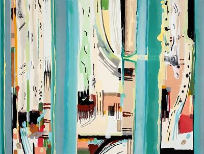 Birch Tree Copse 11, 2016, acrylic on canvas, 90 x 120 cm