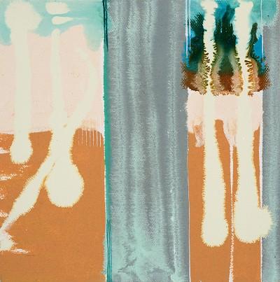 Birch Tree Copse 8 7, 2016, acrylic on canvas, 20.3 x 20.3 cm