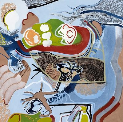 Memento Mori 18, 2017, acrylic on canvas, 70 x 70 cm