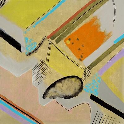 Memento Mori 2, 2017, acrylic on canvas, 30 x 30 cm