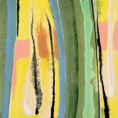 Birch Tree Copse 9, 2016, acrylic on canvas, 20.3 x 20.3 cm