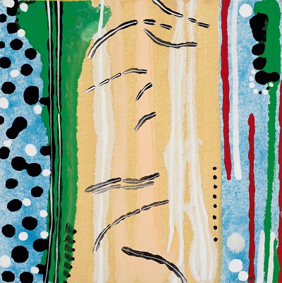 Birch Tree Corpse 13, 2016, acrylic on canvas, 20.3 x 20.3 cm