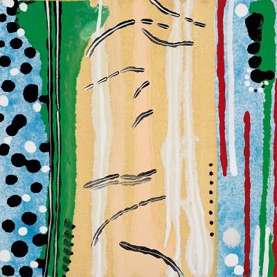Birch Tree Copse 13, 2016, acrylic on canvas, 20.3 x 20.3 cm