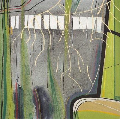 Through the Woods 79, acrylic on canvas 60 x 60 cm, 2014
