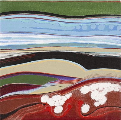Dark Land 81, acrylic on canvas, 35.5 x 35.5 cm, 2014
