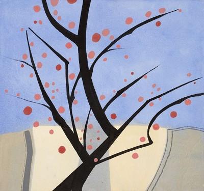 Spring Cherries (77), acrylic on canvas, 42 x 45 cm, 2014