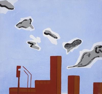 Westway (76), acr on canvas, 42 x 45 cm, 2014