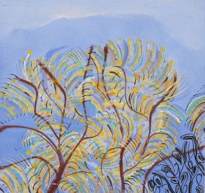 Morning Trees (146), acrylic on canvas, 42 x 45 cm, 2014