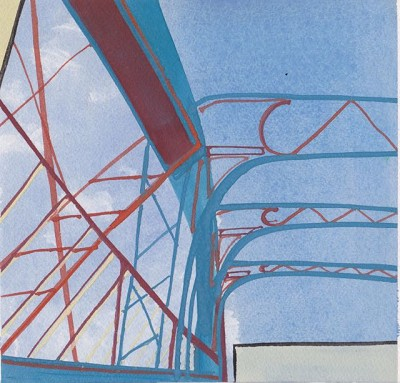 Bridge (136), gouache, 18 x 18 cm, 2014