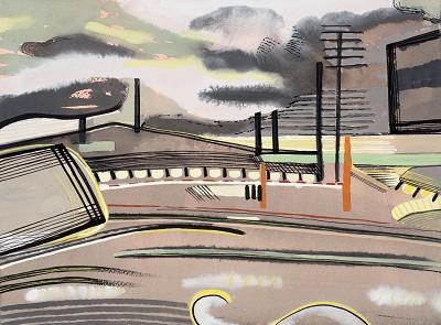 Car Giant Scrubs Lane (2), gouache, 31 x 23 cm, 2015