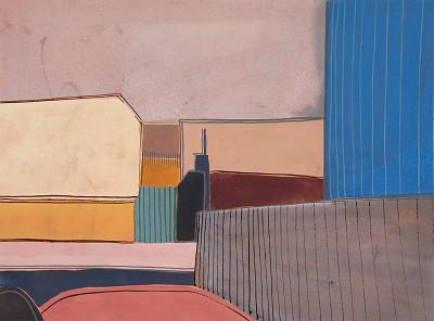 Hythe road (15), gouache, 23 x 31 cm, 2016