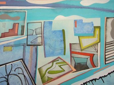 Blue Complex (45), gouache, 23 x 31 cm, 2015