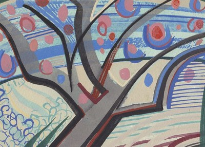 London Cherries (267), gouache, 15 x 20 cm, 2014