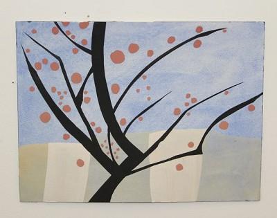 London Cherries (41), gouache, 22 x 30 cm, 2014
