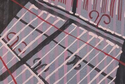 Fence (182), gouache, 10 x 15, 2013