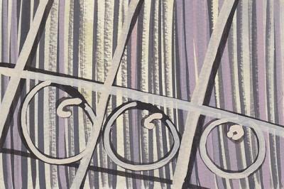 Fence (183), gouache, 10 x 15 cm, 2013