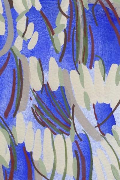 Cream Magnolia Flowers (196), gouache, 15 x 10 cm, 2013