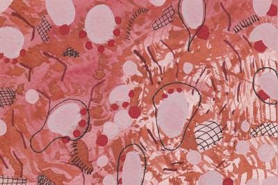 Against Rust Leaves (193), gouache, 10 x 15 cm, 2013