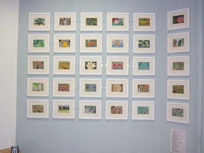 Framed gouaches (each 10 cm x 15 cm)
