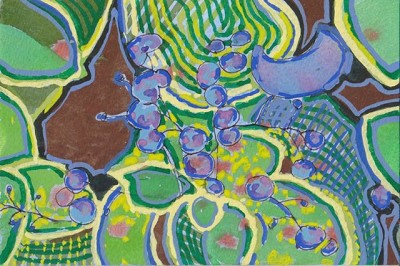 Brunnera (bugloss), gouache on paper, 4 x6 2012.jpg