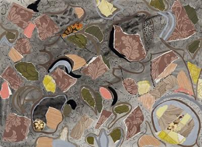 Honeysuckle, acrylic on canvas, 51 x 51 cm, 2007